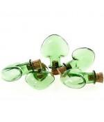 Mini Fiole Cœur Pendentif ( 5 Pièces ) ( 28 X 31.5 Mm ) - Vert