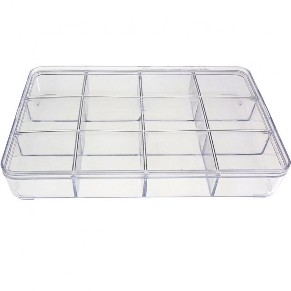 boite plastique transparente avec compartiment rangement l 23 x l 15 x h 3 5 cm. Black Bedroom Furniture Sets. Home Design Ideas