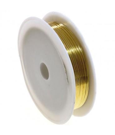 Fil cuivre bijoux 0.5 mm ( bobine de 7 mètres ) - Doré