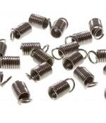 Embout cordon ou lacet ressort 1.5 mm de diamètre (50 pièces )