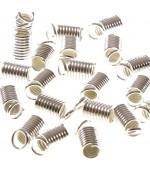 Embout cordon ou lacet Ressort 2.5 mm de diamètre (50 pièces)