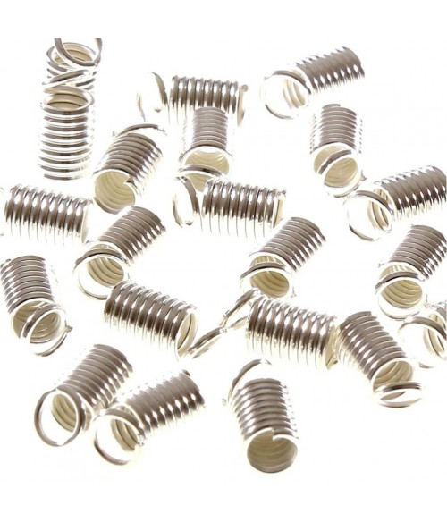 Embout cordon ou lacet ressort 3 mm  de diamètre (50 Pièces)