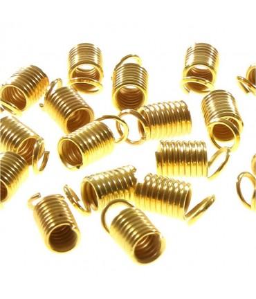 Embout cordon ou lacet ressort 3.5 mm  de diamètre (50 pièces)