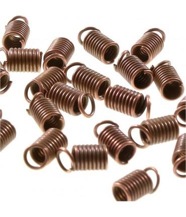 Embout cordon ou lacet ressort 3.5 mm  de diamètre (50 pièces) - Cuivre