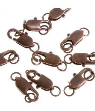 Fermoir mousqueton long 14 mm ( 10 Pièces ) - Cuivre