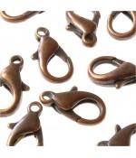 Fermoirs mousquetons 15 mm ( 10 Pièces )