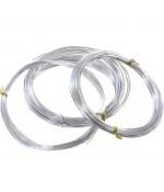 Fil aluminium pour bijoux 1 mm ( 5 Mètres ) - Argenté