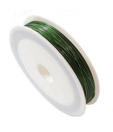 Fil câblé 0.38 mm en bobine de 50 mètres - Vert