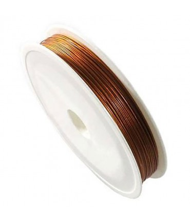 Fil câblé 0.45 mm en bobine de 50 mètres - Cuivre
