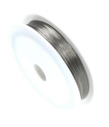 Fil câblé 0.45 mm en bobine de 50 mètres - Gris