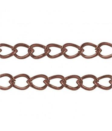 Chaine Au Mètre Maille Cheval 5 X 3 Mm ( 1 Mètre De Longueur ) - Cuivre
