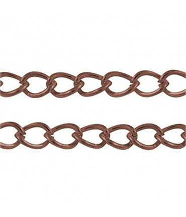 Chaine Au Mètre Maille Cheval 5 X 3 Mm ( 3 Mètre De Longueur ) - Cuivre