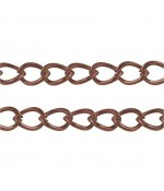 Chaine Au Mètre Maille Cheval 5 X 3 Mm ( 5 Mètre De Longueur ) - Cuivre