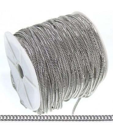 Chaine Au Mètre Maille Cheval 4 X 3 Mm ( 1 Mètre De Longueur ) - Gris