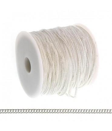 Chaine Au Mètre Maille Cheval 4 X 3 Mm ( 3 Mètre De Longueur ) - Argenté