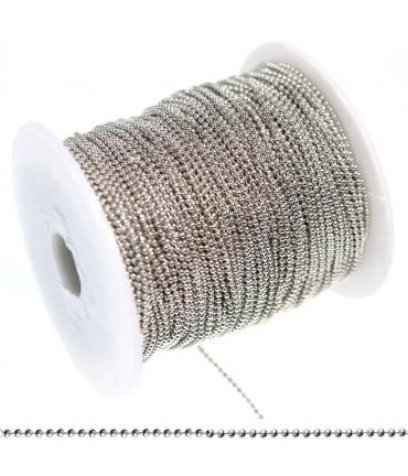 Chaine À Billes 1 Mm ( 1 Mètre De Longueur ) - Gris