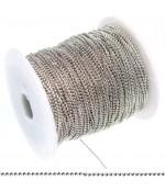 Chaine à billes 1,5 mm (1 mètre) - Gris