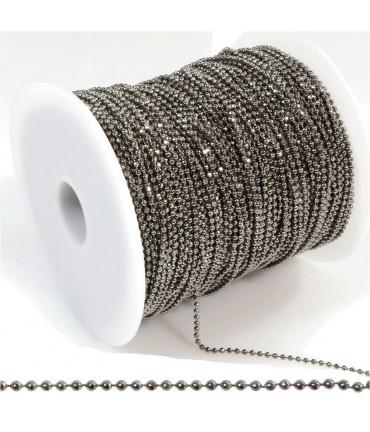 Chaine à billes 1,5 mm (1 mètre) - Noir