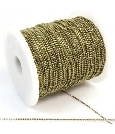 Chaine À Billes 1 Mm ( 1 Mètre De Longueur ) - Bronze