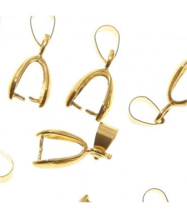 Bélières attache pendentif 19 x 5 mm ( 10 Pièces )