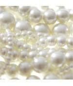 Perles nacrées 14 mm en verre de Bohême couleurs pastel lot de 10