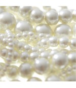 Perles nacrées 5 mm en verre de Bohême couleurs pastel lot de 100