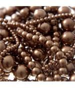 Perles nacrées 6 mm en verre de Bohême couleurs vives lot de 50