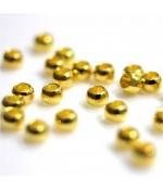 Perles à écraser 4mm ( 200 pièces ) - Doré