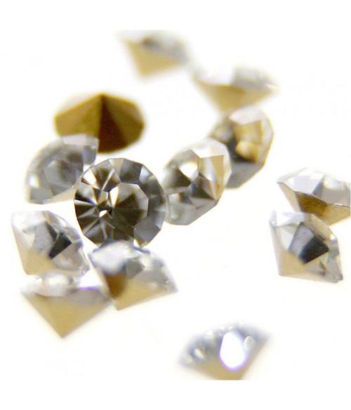 Strass diamant en verre qualité supérieure ( 10 pièces ) ( 1,5 mm de diamètre )