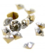 Strass diamant en verre qualité supérieure ( 10 pièces ) ( 3,5 mm de diamètre )