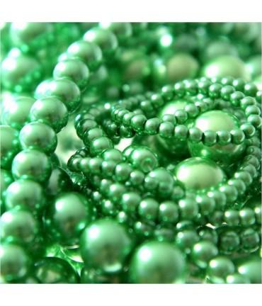 Perles nacrées 10 mm en verre de Bohême couleurs vives lot de 20