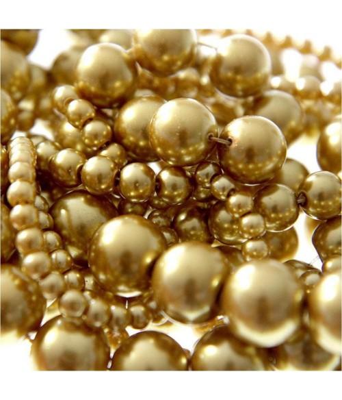 Perles nacrées 12 mm en verre de Bohême couleurs vives lot de 10