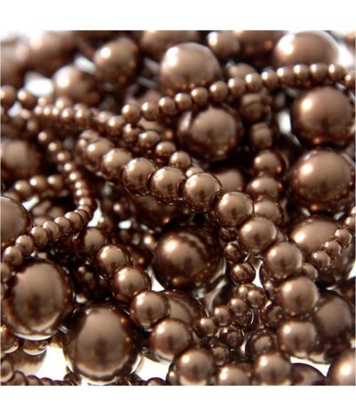 Perles nacrées 14 mm en verre de Bohême couleurs vives lot de 10