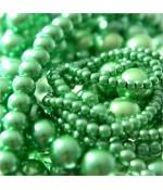 Perles nacrées 4 mm en verre de Bohême couleurs vives lot de 100