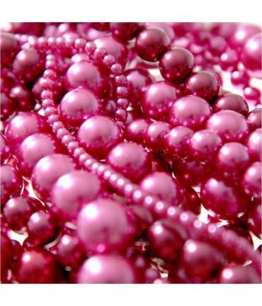 Perles nacrées 5 mm en verre de Bohême couleurs vives lot de 100