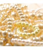 Perles nacrées en verre de boheme couleur pastel 4 mm lot de 100