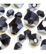Perles cristal cz bicones en verre quartz de Bohême ( 120 pcs ) ( 4 mm de diamètre )