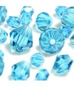 Perles cristal cz bicones en verre quartz de Bohême ( 50 pcs ) ( 6 mm de diamètre )