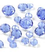 Perles cristal cz à facettes en verre quartz de Bohème ( 150 pcs ) ( 4 mm de diamètre ) - Bleu clair