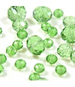 Perles cristal cz à facettes quartz de Bohème 4 mm (150 pcs) - Vert clair