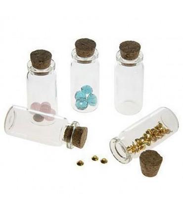 Fiole bijoux en verre lot de 5