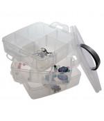 Boite de rangement plastique bijoux apprêts 18 compartiments