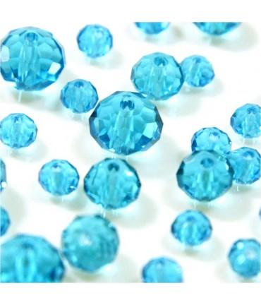 Perles cristal cz à facettes quartz de Bohème 8 mm (70 pcs) - Lagon
