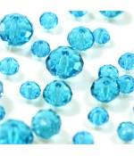 Perles cristal cz à facettes en verre quartz de Bohème ( 70 pcs ) ( 8 mm de diamètre ) - Lagon
