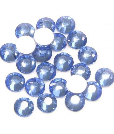 Strass bijoux à coller 4,6 mm lot de  20 pièces - Saphir clair