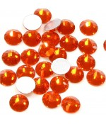 Strass bijoux à coller 4,6 mm lot de  20 pièces - Orange