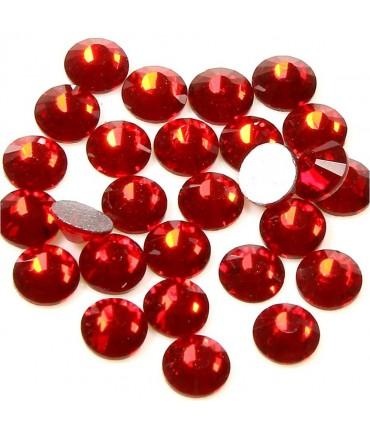 Strass bijoux à coller 4,6 mm lot de  20 pièces - Rouge