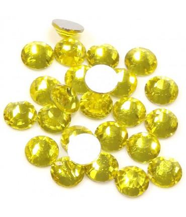Strass bijoux à coller 4,6 mm lot de  20 pièces - Jaune