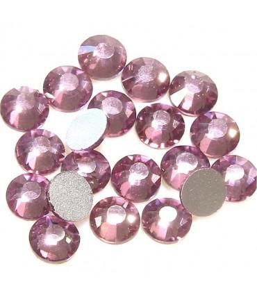 Strass bijoux à coller 4,6 mm lot de  20 pièces - Mauve