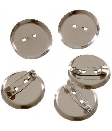 Broche épingle badge création bijoux 29mm ( 10 Pièces ) - Gris